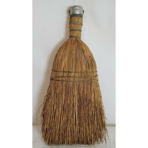Vintage hand sewn Hungarian straw hand broom